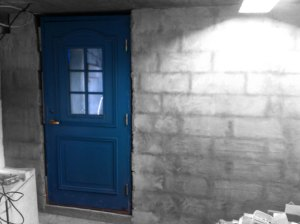 En blå dörr till njutning